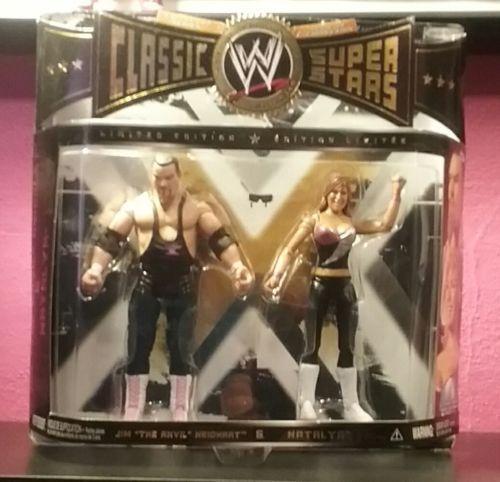WWE JIM NEIDHART NATALYA CLASSIC SUPERSTARS 2-PAC HART FOUNDATION DIVA HTF RARE