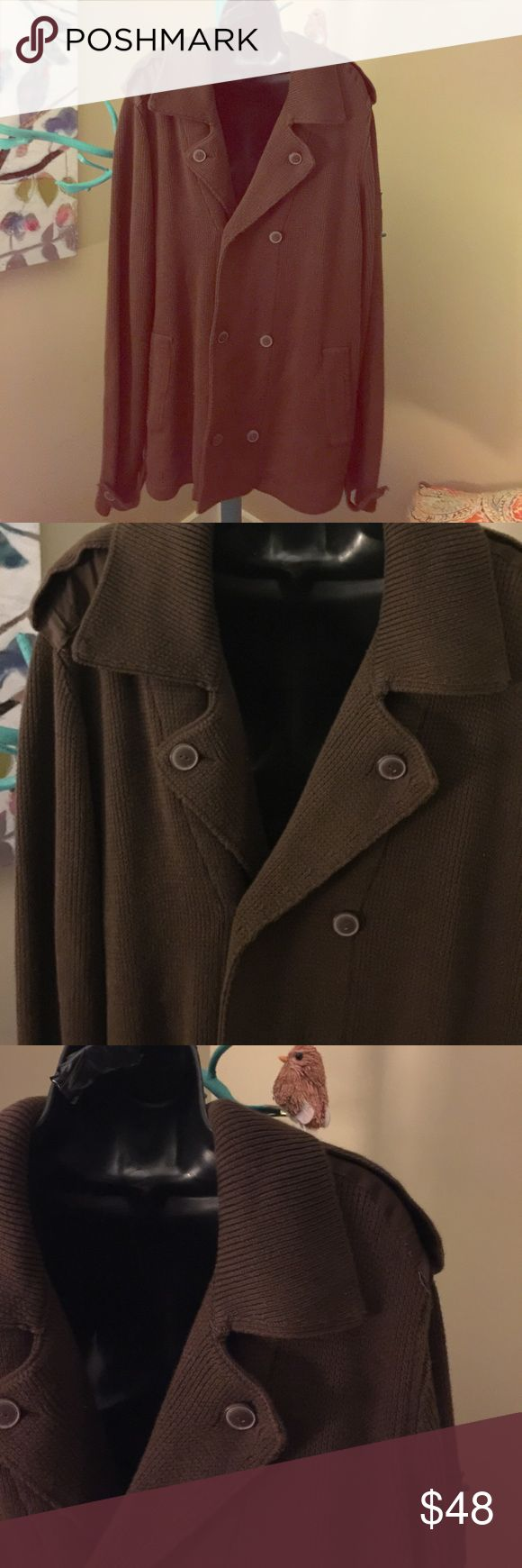 ⬇️Reduced⬇️  EUC, Guess, XXL EUC, Guess, XXL, brown, double-breasted, cardigan Guess Sweaters Cardigan