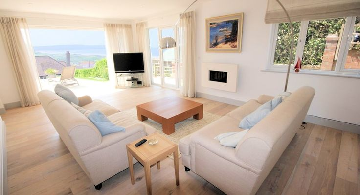 Long Beach House Woolacombe Holiday Cottages Spacious Sitting Room Out To Terrace