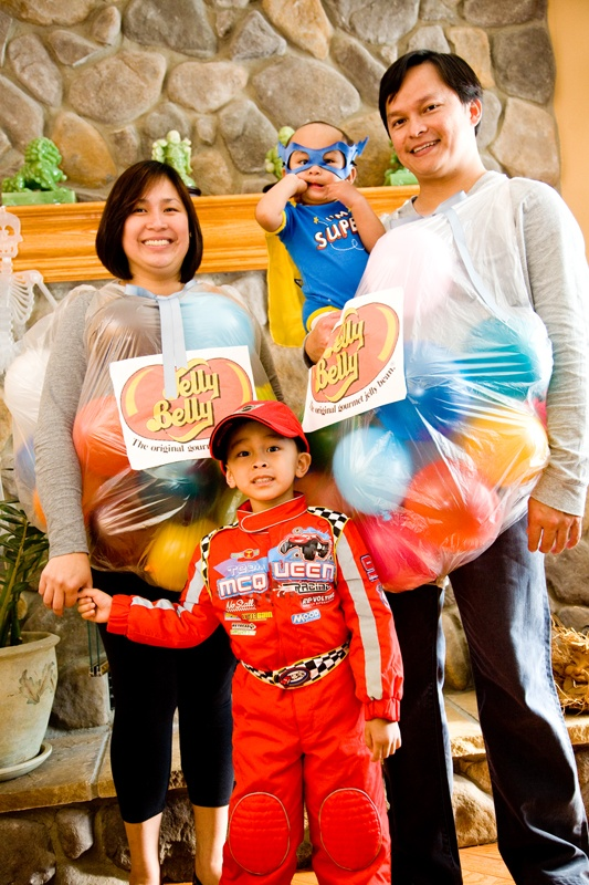 Halloween Costumes #Family #DIY #kids #jellybelly #cars #baby