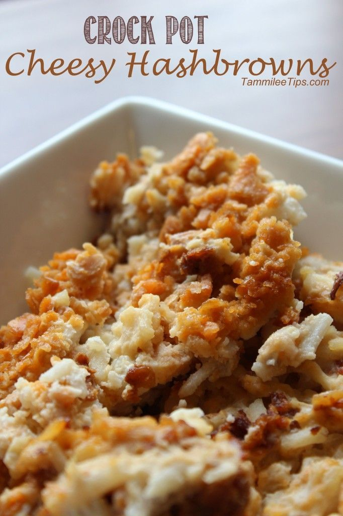 Crock Pot Cheesy Hashbrown Casserole Recipe.