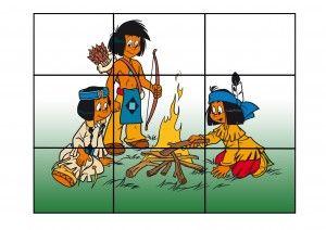 indianenpuzzel voor kleuters, kleuteridee.nl