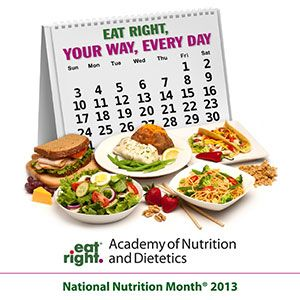National Nutrition Month - 2013 - From the Academy of Nutrition and Dietetics