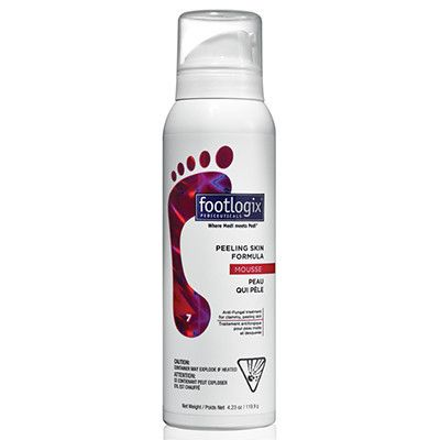 Footlogix® 7 Peeling Skin Formula Mousse contains an effective anti-fungal agent, that provides relief of peeling skin on the soles and between the toes caused by Athlete's Foot or fungal infections. #BellaTGIF #Fridayfootcare #skincare #footcare