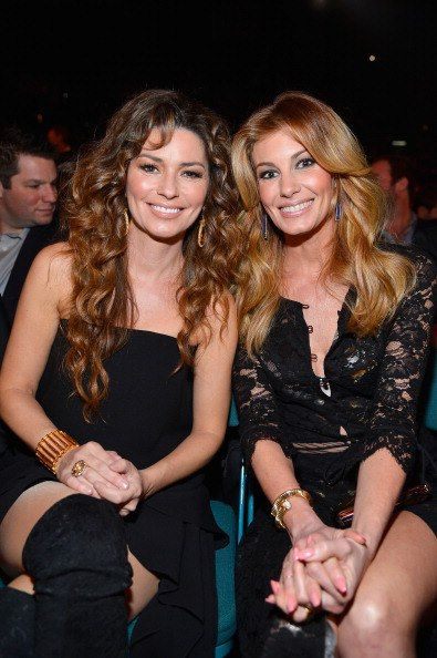 Shania sat next to Faith Hill at the 2013 ACM Awards.