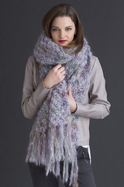 NobleKnits.com - Filatura Di Crosa Baffo Emilia Scarf/Wrap Knitting Pattern PDF, $5.95 (http://www.nobleknits.com/filatura-di-crosa-baffo-emilia-scarf-wrap-knitting-pattern-pdf/)