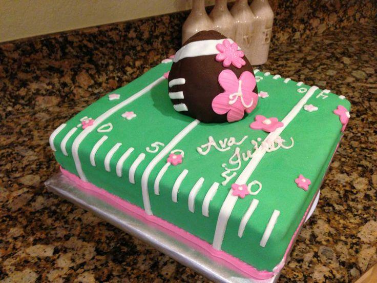Girls Football Cake Birthday Cakes Pinterest