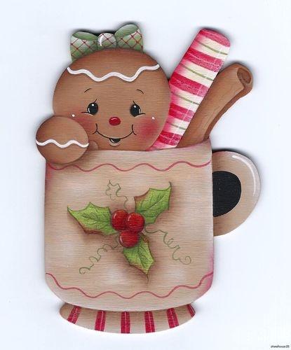 HP GINGERBREAD Christmas Cup FRIDGE MAGNET