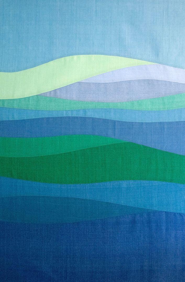 Improv curves - such pretty colors! (Oakshott fabrics)