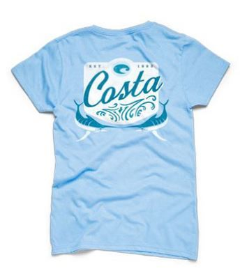 Costa Del Mar Women's Blue Horizon Tee http://www.gradysoutdoors.com/costa-del-mar/costa-del-mar-bluef-womens-blue-horizon-tee-39629