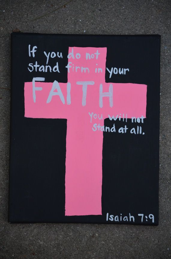Canvas Painting  Isaiah 79  Cross by JordansCanvas on Etsy, $10.00