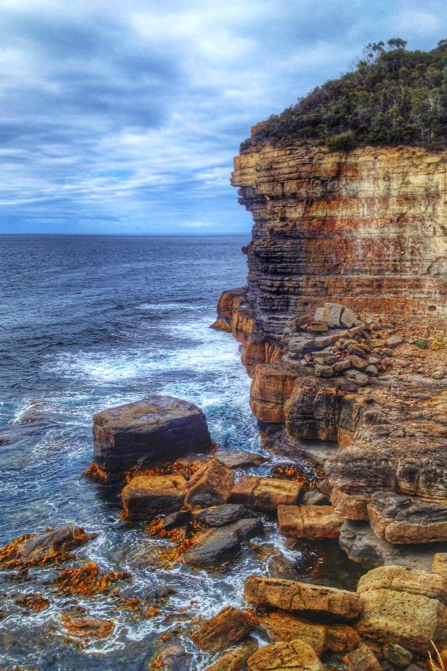Amazing sea cliffs in Tasmania. Follow our hunt and rescue mission at http://www.facebook.com/NothingButVintage and http://nothingbutvintage.com.au