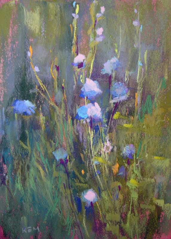 A pastel painting of 'Blue Sailors' from Karen Margulis