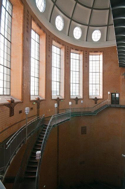 Hamburg, Alter Elbtunnel, Treppen