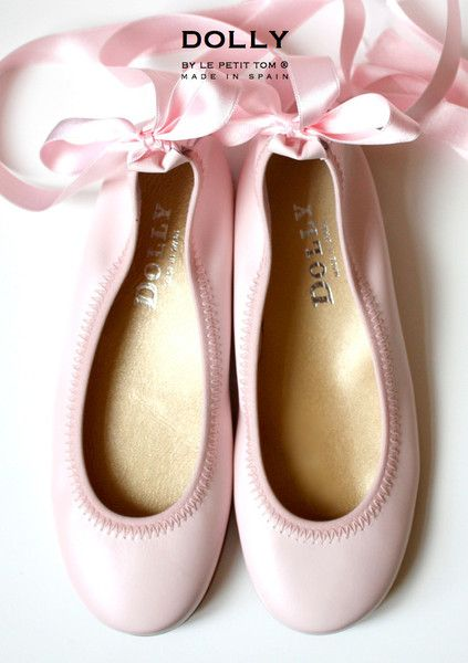 DOLLY by Le Petit Tom ® BALLERINA'S 1GB LIGHT PINK leather