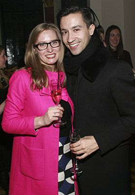 Lizzy Brueggeman and Giuseppe Scarpa attend the Carnegie Hall Notables and French Institute Alliance Francaise (FIAF) Young Patrons Cocktail Party on March 13, 2014