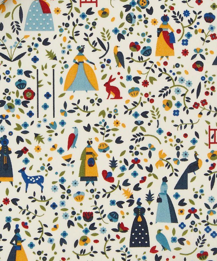 Nursery curtains liberty art fabrics lotta b tana lawn for Nursery fabric uk