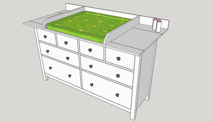 Bauen Sie sich einen Wickelaufsatz für Ihre Ikea Hemnes Kommode einfach selber!