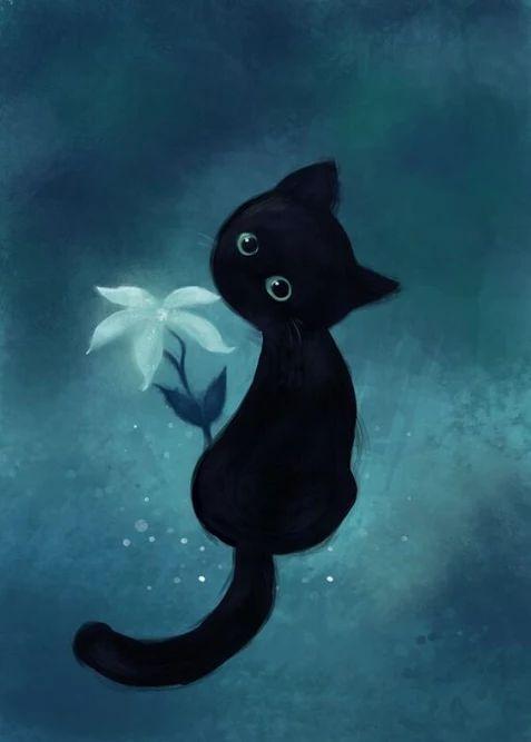 Immagine: 1000+ ideas about Black Cat Art on Pinterest | Cat Art, Cat Art ...
