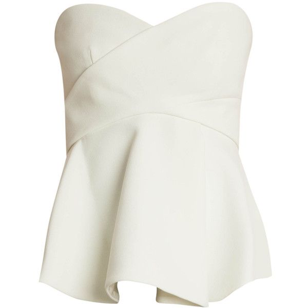 10 CROSBY DEREK LAM Corset Top ($653) ❤ liked on Polyvore featuring tops, pleated top, bustier corset, corset tops, white bustier shirt and bustier tops