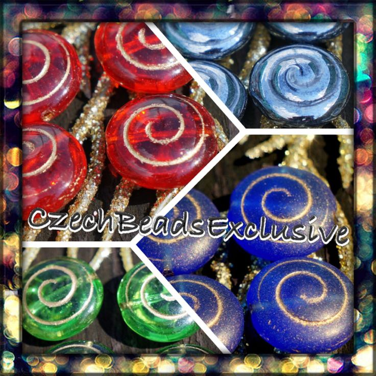 #NEW Spiral Czech Glass beads are already listed! www.CzechBeadsExclusive.etsy.com #etsy #bead #beads #beading #beaders #diy #handmade #supply #shop