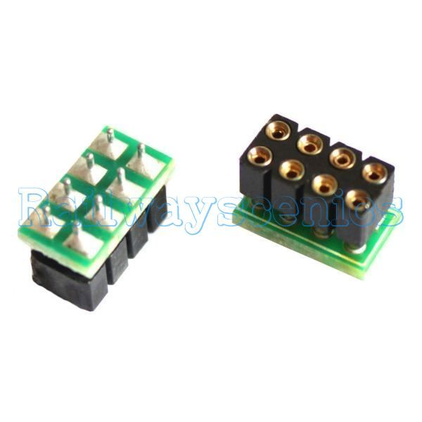 8 Pin Nem 652 Dcc Decoder Socket Which Will Allow You To Easily