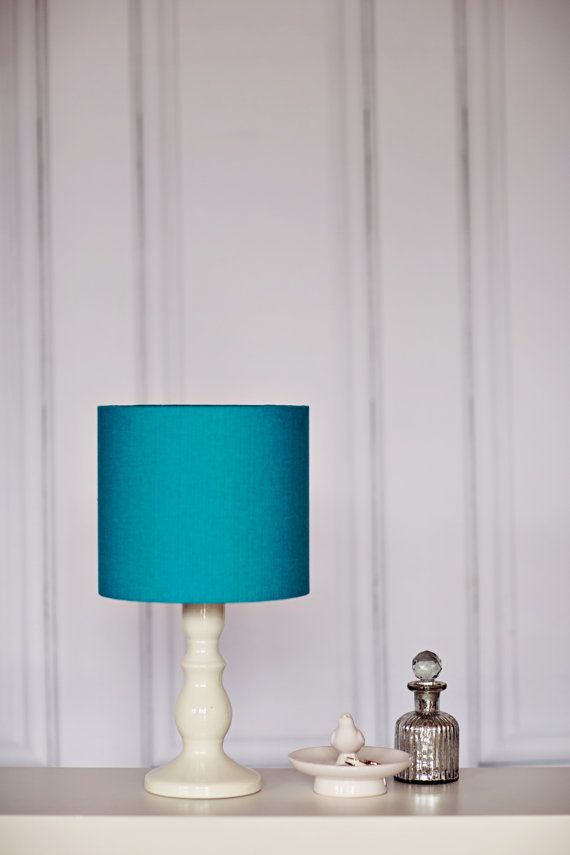 Turquoise lamp shade teal lamp shade table by ShadowbrightLamps