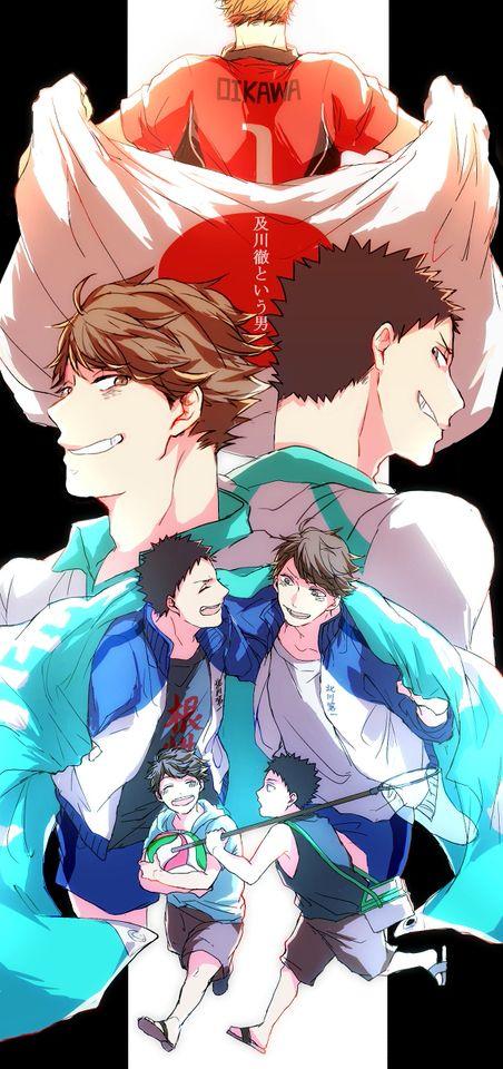 Haikyuu!! (ハイキュー!!) - Tooru Oikawa & Hajime Iwaizumi -「ただ前だけを見据える君へ」/「あさひ」のイラスト [pixiv]