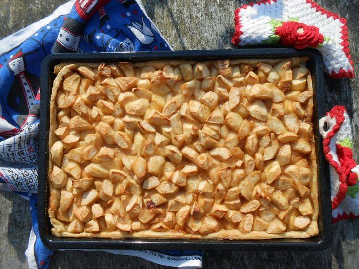 Makkelijke appeltaart met honing en bladerdeeg
