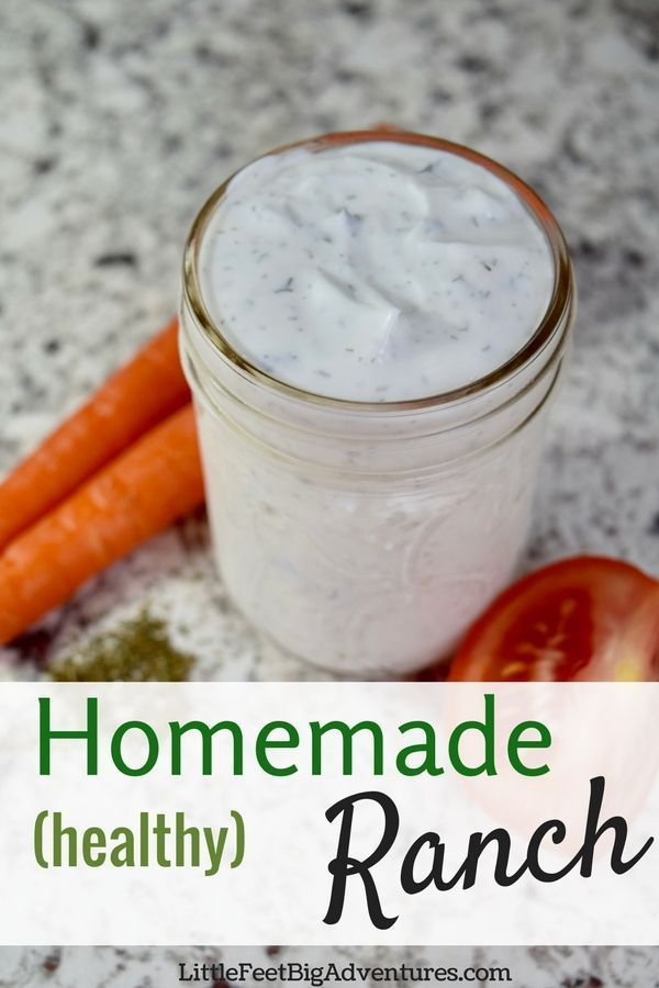 Healthy Homemade Ranch dressing is so easy to make you will love this DIY recipe. #recipe #healthy #ranchdressing