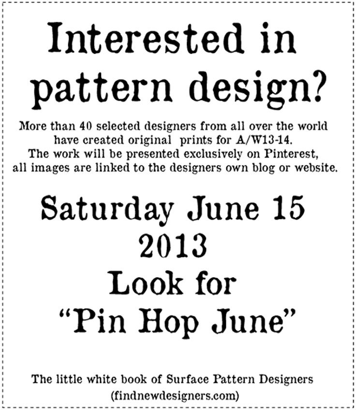Pin Hop June! Starts Saturday 15th June 2013