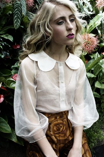 Begonia Blouse by Kelsey Genna