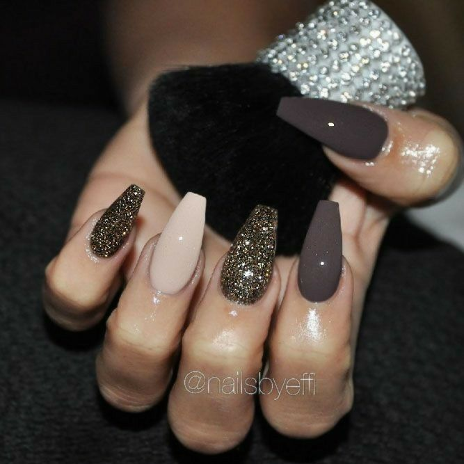Nails design brown matt gold - Nails Design Brown Matt Gold Nails Nails, Nail Designs, Nail Art