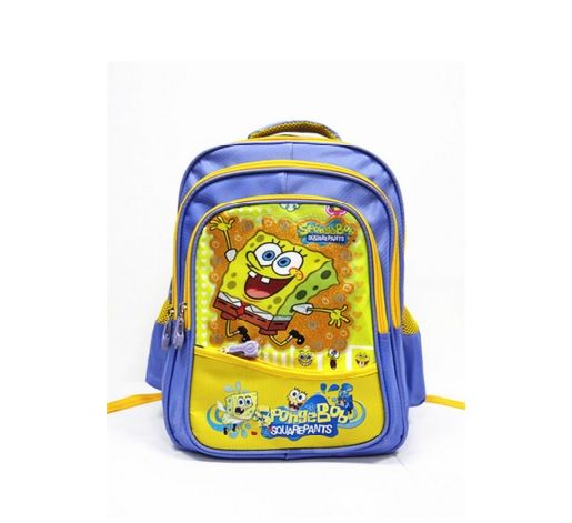 Impertex Fabric Children School Backpack with Sponge Bob Printing
