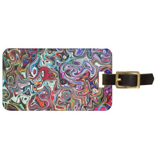 Carnival Abstract Art Luggage Tag
