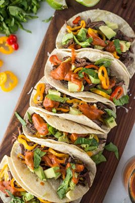 Slow Cooker Beef Fajita Tacos Recipe on Yummly. @yummly #recipe
