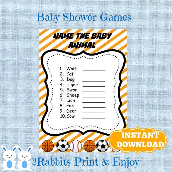 Baby Shower Game Name The Baby Animal: Printable Games Images On Pinterest