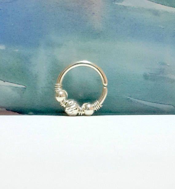 14g 16g 18g <b>925 Sterling Silver Beaded</b> Conch Ring, Conch Ring ...