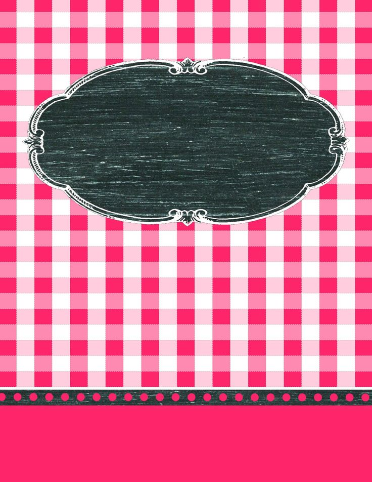 9 Free Editable Binder Covers in Gingham Check - FREE