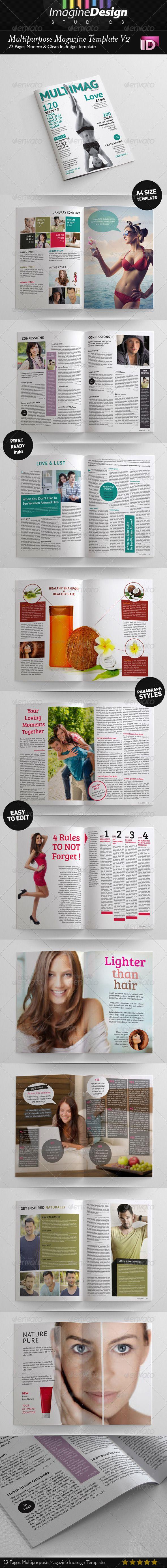 Multipupose Magazine Template V2 93 best Print