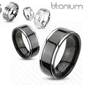 Men's Stylish Titanium Ring: Wedding Ring, Black Ip, Wedding Ideas, Ip Center, Wedding Band, Rings