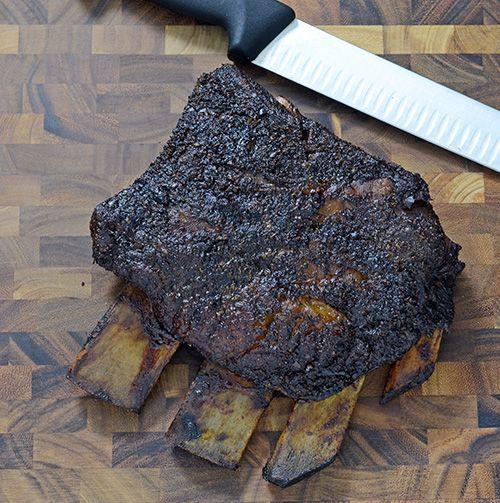 BBQ Beef Short Ribs on Big Green Egg Mini-Max