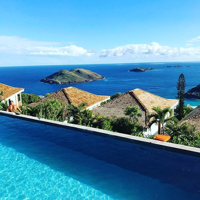 Breathtaking view from the pool at Villa Marie Saint-Barth.
