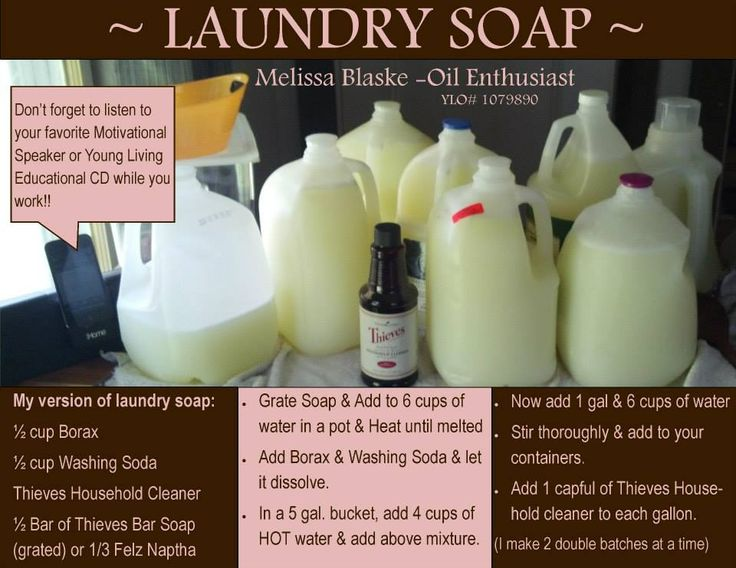 Young Living Laundry Soap Using Essential Oils
