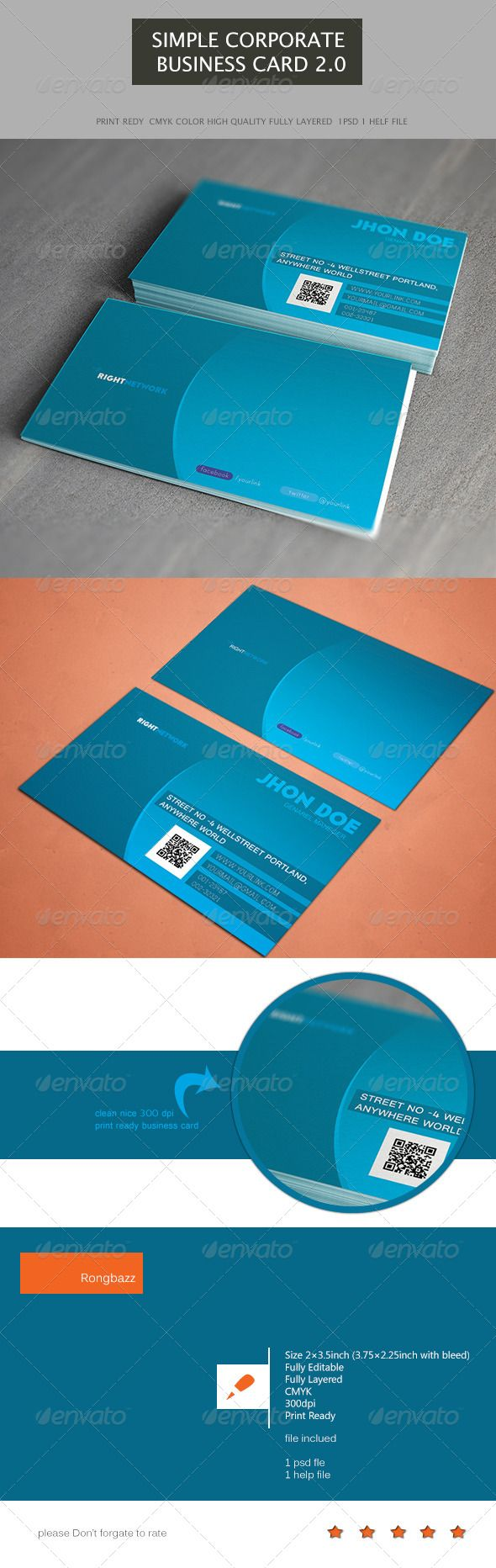 76 best print templates images on pinterest print templates simple corporate business card 20 magicingreecefo Choice Image