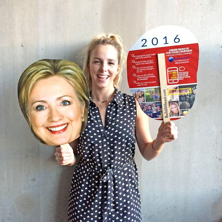 Go BIG for Hillary! #Hillary2016 BIG head cutouts. Ships next day: https://buildahead.com/pr…/hillary-clinton-big-head-cutouts/