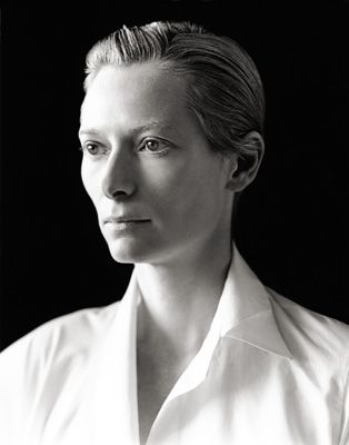 Tilda Swinton. She is such a chameleon. Her looks can range from plain to angelic to seductive to harsh. There's a mystery about her that I really love.
