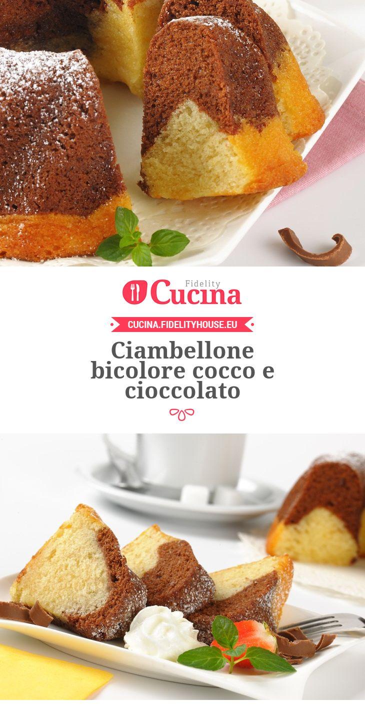 Ciambellone bicolore #cocco e #cioccolato