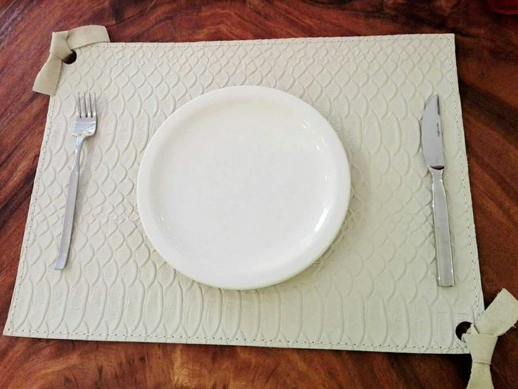 #leather #handmade #placemats