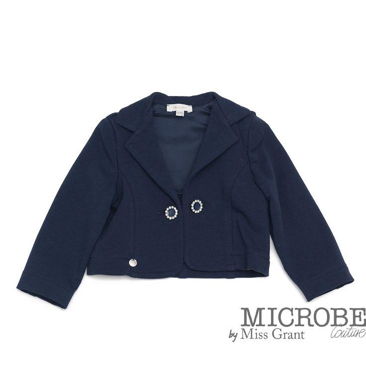 Microbe udsalg børnetøj Fleece jakke med applikation på ryggen tilbud børnetøj